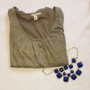 🎄FINAL SALE🎄Banana Republic Gold Top